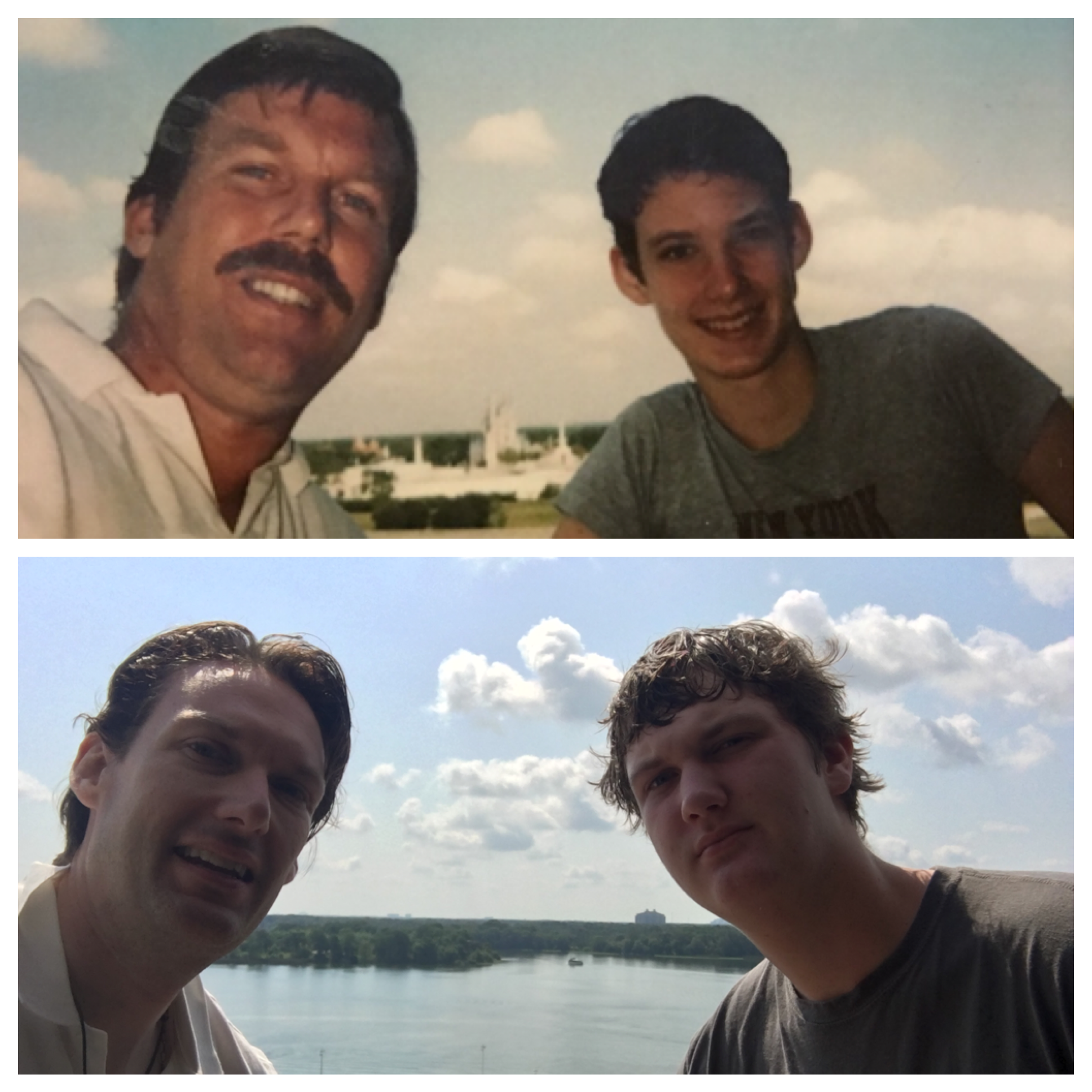 Top: Dad and me at the Contemporary Hotel. Bottom, my son and me at the Contemporary Hotel.